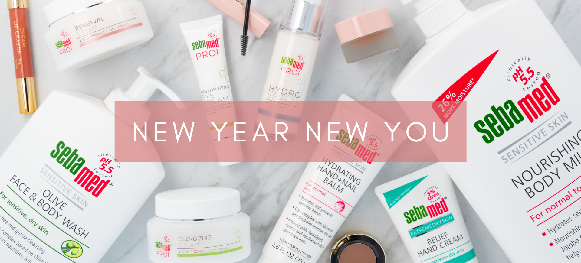 New year new you landing page header