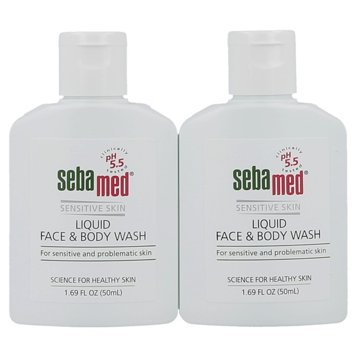 Travel Kit - 2 Pack Mini Face & Body Wash (50 ml each)