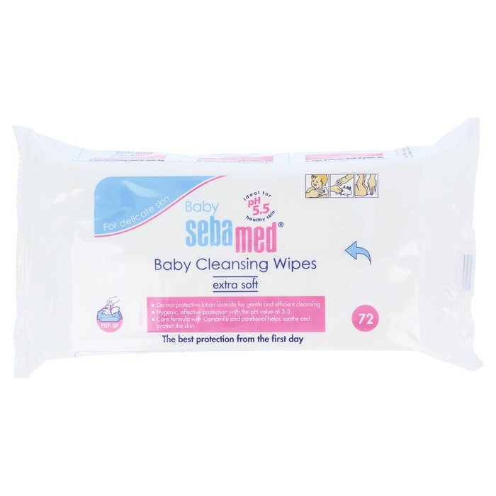 Baby Cleansing Wipes - 72 count