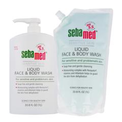 Liquid Face & Body Wash - 1000ml + 1000ml Refill Pack