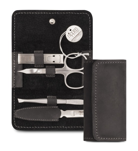Partner Brands x Nippes Professional Manicure Set With Leather Case, 4 Piece